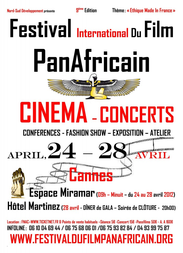 FESTIVAL INTERNATIONAL DU FILM PANAFRICAIN - 2012 - Cannes Film Festival -  65eme - https://maziki.fr